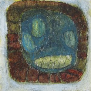 "marking each day by the garden grins, 3""x3"""