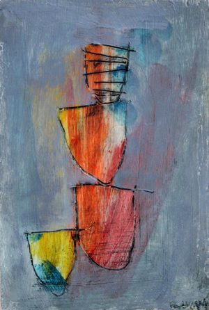 abstract painting by R. Sawan White