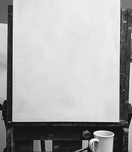 how to start a painting blank canvas