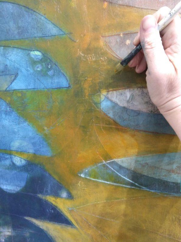 abstract artist r sawan white