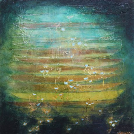 swarming or settling its all the same here painting by R. Sawan White